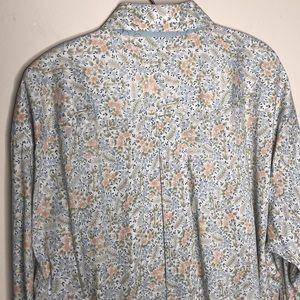 Nordstrom Shirts - Floral mens dress shirt Burma Bibas XL French cuff